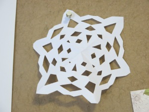 I made some paper snowflakes which is surprisingly hard!
